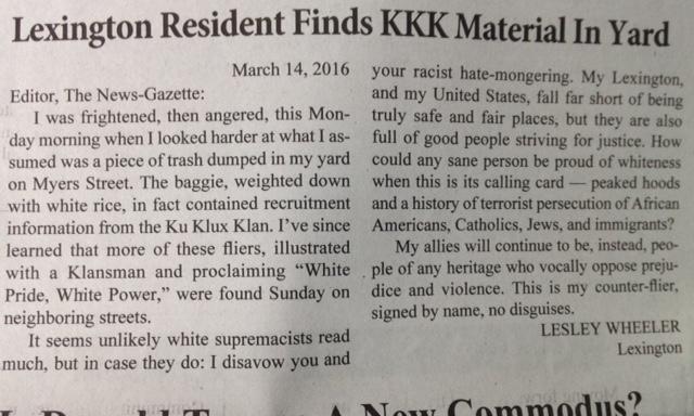kkk letter