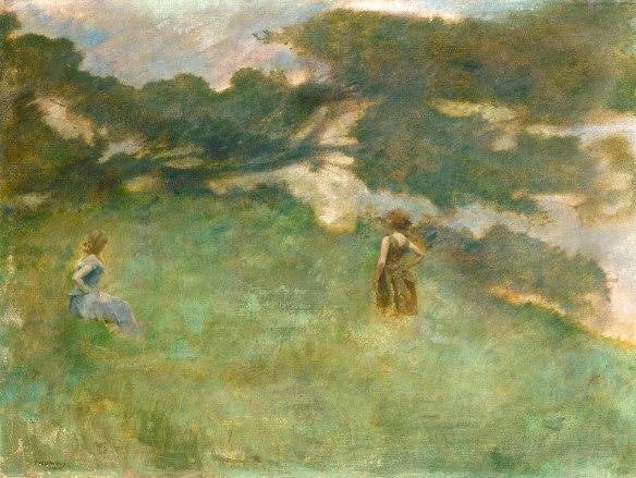 Thomas_Wilmer_Dewing_-_The_Hermit_Thrush_-_1890