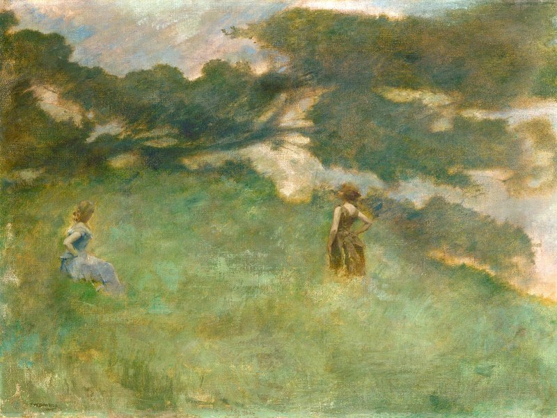 Thomas_Wilmer_Dewing_-_The_Hermit_Thrush_-_1890